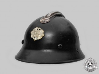 Czechoslovakia, First Republic. A Czechoslovak Fire Brigade M29 Steel Helmet