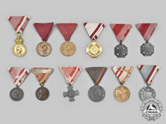 Austria, Empire; Hungary (Kingdom). A Lot of Twelve Medals