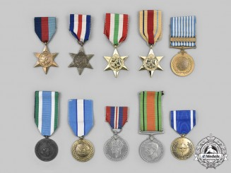 United Kingdom, United Nations, International. A Lot of Ten Medals