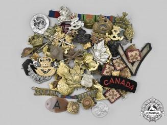 Canada, United Kingdom. A Lot of Seventy-Three Regimental Items