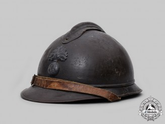 France, Third Republic. A French Army M1915 Adrian Helmet for Infantry