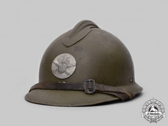 France, Third Republic. A French Army M1926 Adrian Helmet for Artillery Personnel