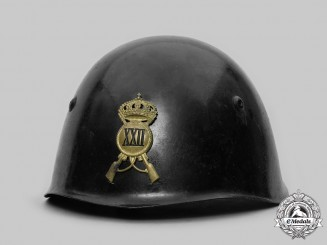 Italy, Kingdom. An M33 Italian Army Steel Helmet, by Sinigagliesi