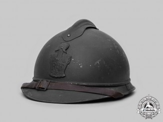 France, Third Republic. A French Army M1915 Adrian Helmet for Pioneer Troops