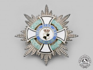 Romania, Kingdom. An Order of the Ruling House, Military Grand Cross Star, by Hemmerle, c. 1940