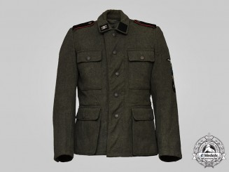 Germany, SS. A Rare 20th Waffen Grenadier Division of the SS (1st Estonian) Volunteer's M43 Tunic