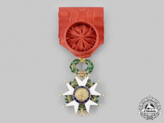 France, III Republic. An Order of the Legion of Honour in Gold, IV Class Officer, c.1950
