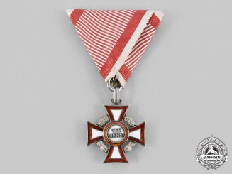 Austria, Empire. A Military Merit Cross with War Decoration, III Class Cross, by F.Rothe
