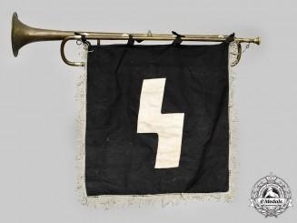 Germany, DJ. A Deutsches Jungvolk (DJ) Trumpet and Banner