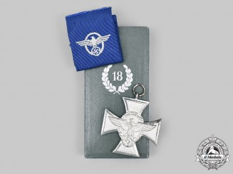 Germany, Ordnungspolizei. A Long Service Award, II Class for 18 Years, with Case