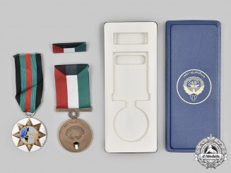 Iraq, Kuwait. A Lot of Two Middle East Medals
