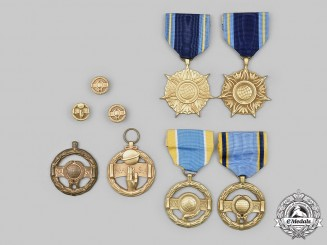 United States. A Lot of Six NASA Medals and Three Lapel Badges