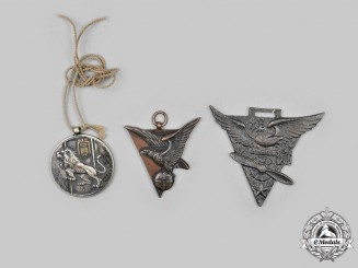 Japan, Empire. A Second War Era Lot of Two Fobs and One Medal