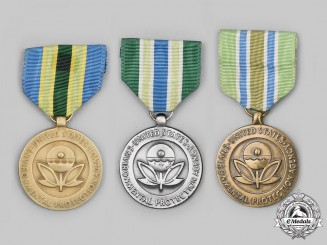 United States. Three Environmental Protection Agency (EPA) Medals