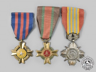 Vietnam, Republic (South). A Lot of Three Medals