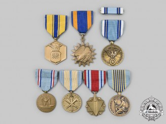United States. A Lot of Seven Air Force Medals