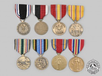 United States. A Lot of Eight Campaign Medals