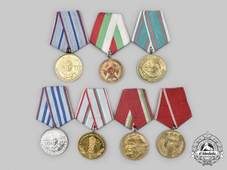 Bulgaria, People's Republic. A Lot of Seven Medals.