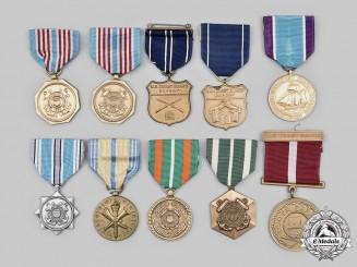 United States. A Lot of Ten Coast Guard Medals