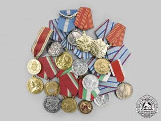 Bulgaria, Poland, Romania, Yugoslavia. A Lot of Twenty Socialist/Communism Era Medals