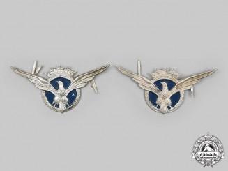 Spain, Francoist Era. Two Military Transport Pilot NCO's Cap Badges