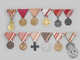 Austria, Empire, Republic; Hungary, Kingdom. A Lot of Twelve Medals