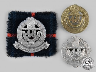 Canada. Three 48th Highlanders of Canada Glengarry Badges