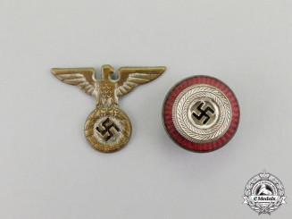 Germany. An Early SA/SS Set of Kepi Insignia