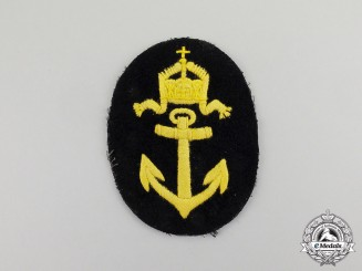 Germany. An Imperial German Naval Boatswain Rank Patch