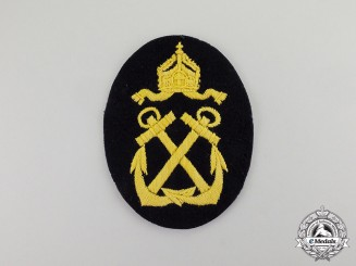Germany. An Imperial German Naval Helmsman Trade Patch