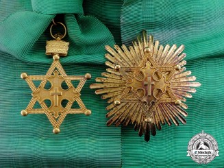 Ethiopia. An Order of Solomon's Seal, Grand Officer's Set, Type II with Ethiopian Crown