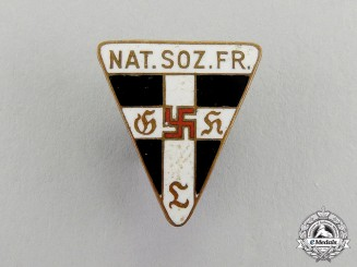 Germany. A Miniature National Socialist Women's League Membership Badge