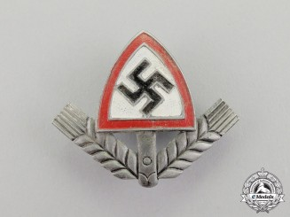 Germany. A RAD (National Labour Service) Cap Insignia by Lind & Meier