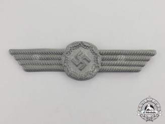 Germany. A Second War Period RLB (Air Raid Protection League) Visor Cap Insignia