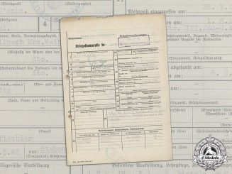 "Germany. A Service Record of SS-Unterscharführer Paul Aldinger, SS Mountain Division ""Nord"""
