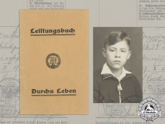 Germany. A 1935 Achievement Book for National Sports Youth Badge