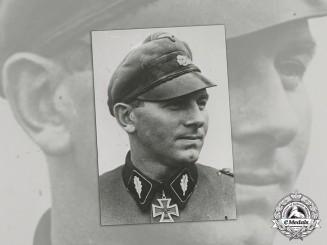 Germany. A Swedish Press Photo of an SS-Standartenführer Knight's Cross Recipient