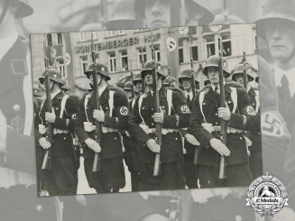 Germany. An Official Press Photo of LSSAH at the 1938 Nuremberg Rally