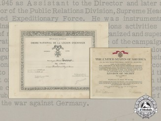 United States. President Truman Signed Award Documents to Brigadier William Arthur Scales Turner, CBE, MC
