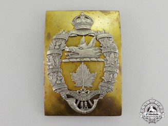 Canada. A Lorne Rifles (Scottish) Cross Belt Plate, c.1931-1936