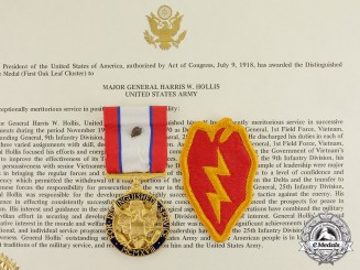 United States. An Army DSM with Oak Leaf Cluster to Major General Harris Whitton Hollis