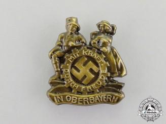 Germany. A KDF (Strength Through Joy) Oberbayern Festival Badge