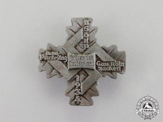 "Germany. A 1934 ""The Führer is Germany"" NSDAP Cologne-Aachen Regional Party Day Badge"