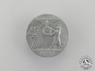 Germany. A 1936 10-Year Anniversary of National Socialist Berlin Celebration Badge