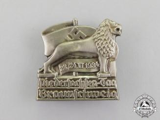 Germany. A 1934 Braunschweig Day of Lower Saxony Celebration Badge