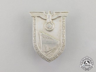 Germany. A Badge to Commemorate A.H's Speech at the launch of the Tirpitz by Wächtler & Lange