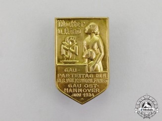 Germany. A 1934 National Socialist People's Welfare Regional Party Day Badge