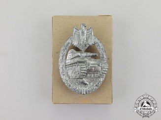 Germany. A Mint and Unissued Silver Grade Tank Badge by Hermann Aurich