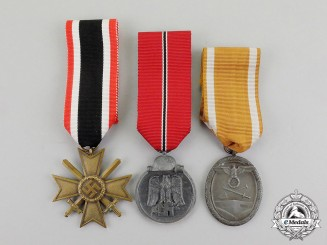 Germany. Three Third Reich Period Medals, Awards, and Decorations