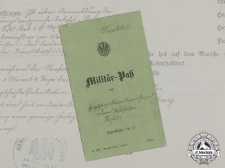 Germany, Imperial. A Military Passport to Hessian Jäger Battalion No. 11